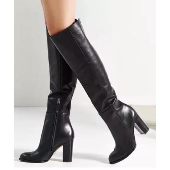 48667c7bf Sam Edelman Shoes | Regina Black Knee High Leather Boots | Poshmark